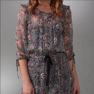 Juicy Couture Silk Mosaic Batik Tunic